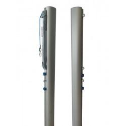 Tournament aluminum volleyball posts, profile 120x100 mm, tension mechanism type SLIM