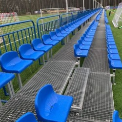 3-row modular mobile tribunes with plastic seats