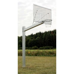 Single-post basketball structure Heavy Duty, for backboard 105x180 cm, mounted in  a sleeve