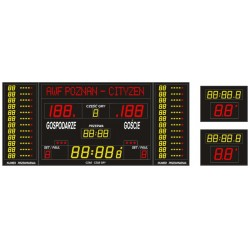 Professional sports scoreboard ETW 340-185 PRO-L with a built-in text line