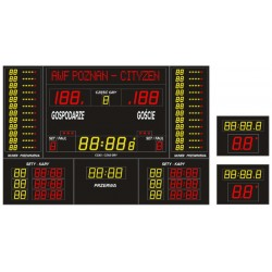 Professional sports scoreboard ETW 340-205 PRO-L with a built-in text line