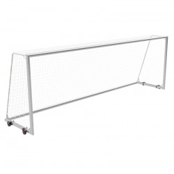 Mobile football goals 7,32x2,44 m with wheels, main frame and bottom frame - aluminum profile 120x100 mm