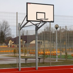 Double-post basketball structure for backboard 105x180 cm, mounted in a sleeves