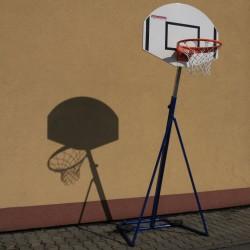 Portable basketball set