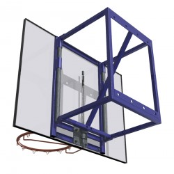 Wall-mounted training basketball set with height adjustment, projection: 60 cm