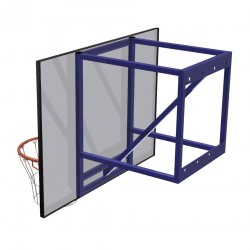 Wall-mounted training basketball set, projection: 70 cm