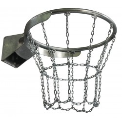 Galvanized chain basketball net, 12 fixing points