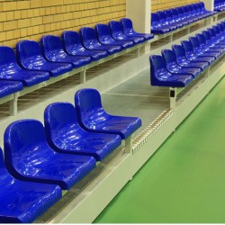 Stationary tribune with a riser, type TSH-200 - for indoor use