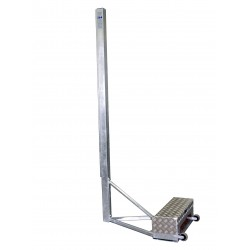 Steel free-standing volleyball posts with counterweight, profile 80x80 mm