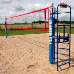 Beach volleyball umpire stand