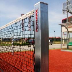 Steel tennis posts