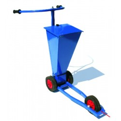 Trolley for chalking lines