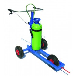 Trolley for marking lines with emulsion