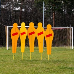 Stationary training wall for football (5 dummies)