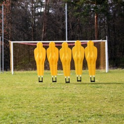 Tilting training wall for football (5 dummies)