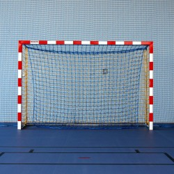 Aluminum handball goals, the main frame all-welded, with solid bows