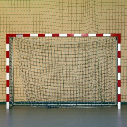 Aluminum handball goals, reinforced profile, the main frame connected in the corners, with solid bows