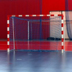 Aluminum handball goals, reinforced profile, the main frame connected in the corners, extended, with solid bows