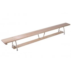 Gymnastic benches with metal legs