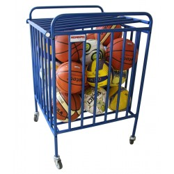 Lockable trolley for balls