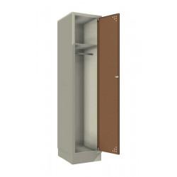 Single steel clothes locker