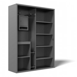 Steel locker for sport equipment SM-150-2P