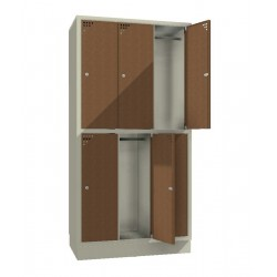 Steel safe locker with 6 compartments