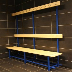 Bench with hangers for locker room (one-sided)