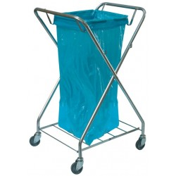Single trolley for waste, galvanized