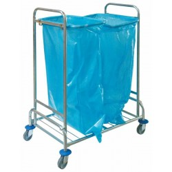 Double trolley for waste, galvanized