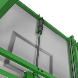 Electrical drive module for basketball backboard height adjustment mechanism