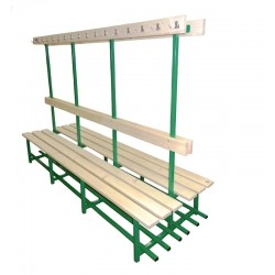 Bench with hangers for locker room (two-sided)