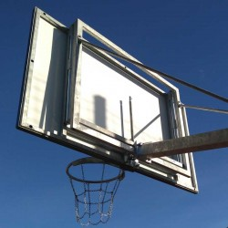 Height adjustment mechanism for backboard 105x180 cm, galvanized, with an adaptive frame for single-post structure