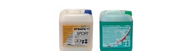 Professional cleansing agents for sports sufaces