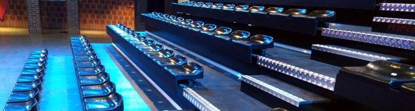 Tribunes for indoor facilities