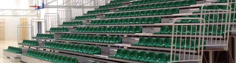 Telescopic tribunes for indoor facilities