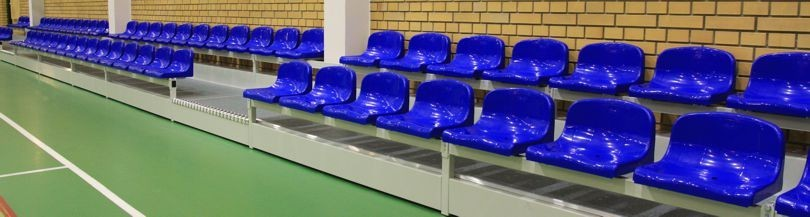 Stationary tribunes for indoor facilities