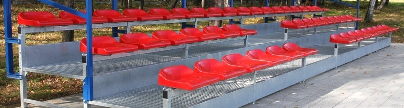 Stationary tribune for outdoor use with a riser, type TSD-200