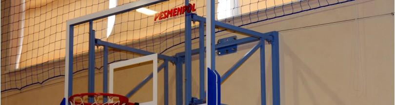 Basketball backboards for indoor use