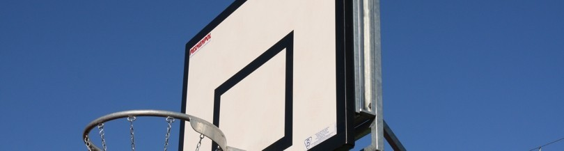 Basketball backboards for outdoor use