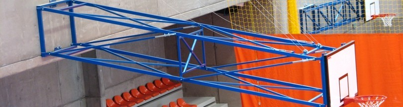 Basketball structures for indoor use