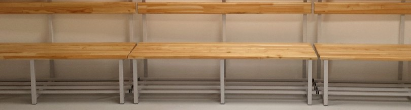 Equipment for locker room – Benches, hangers, racks