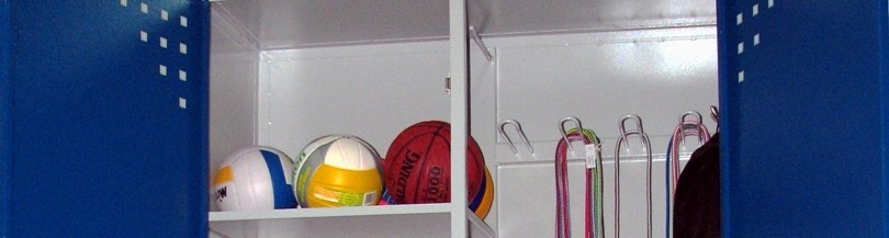 Storage lockers and shelves